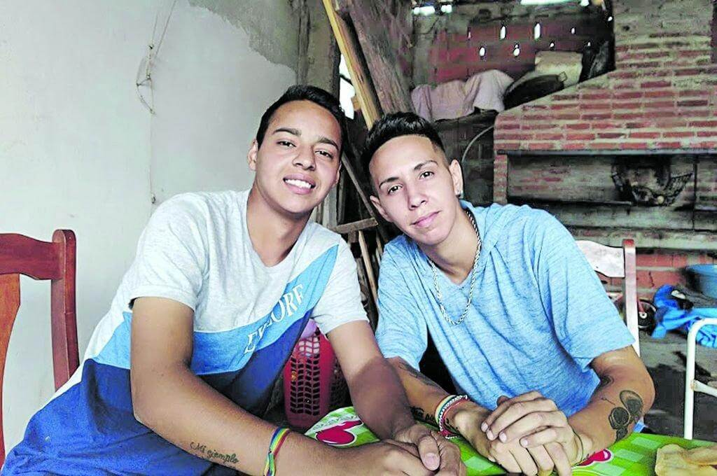 Marcos with his friend Coty, who helped him fulfill his dream. (Photo: Courtesy Marcos Rojo).