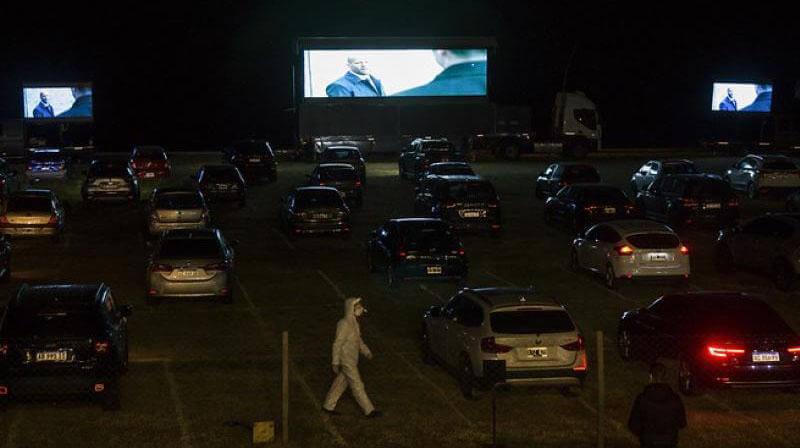 In San Isidro the first AMBA drive-in cinema was enabled. (Photo: San Isidro Municipality Press).