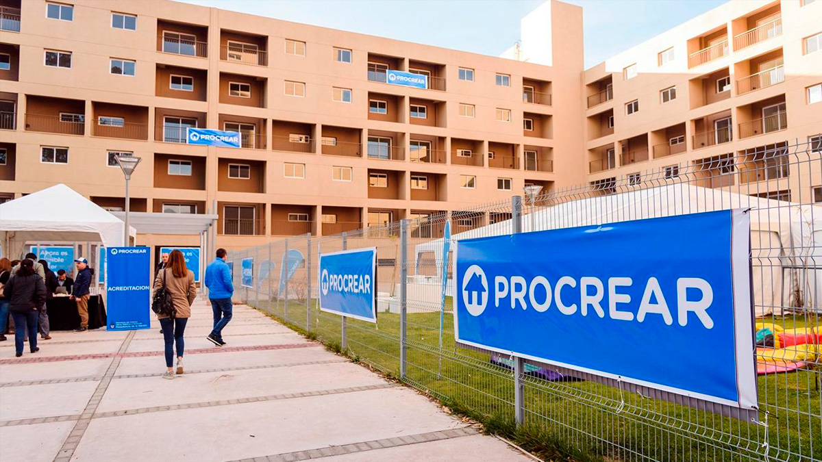 Many of the homes in the Procrear program were completed and delivered so far in 2020